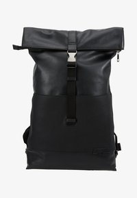 Zign - UNISEX LEATHER - Ryggsekk - black - 6