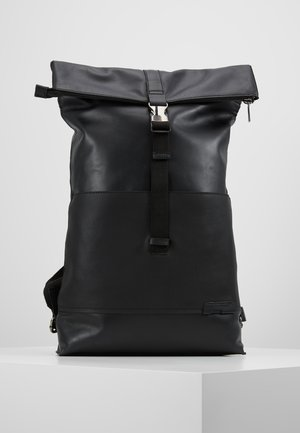 UNISEX LEATHER - Ryggsäck - black