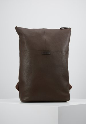 UNISEX LEATHER - Ryggsekk - dark brown
