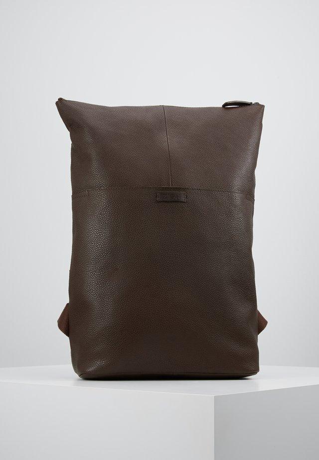 UNISEX LEATHER - Rucksack - dark brown
