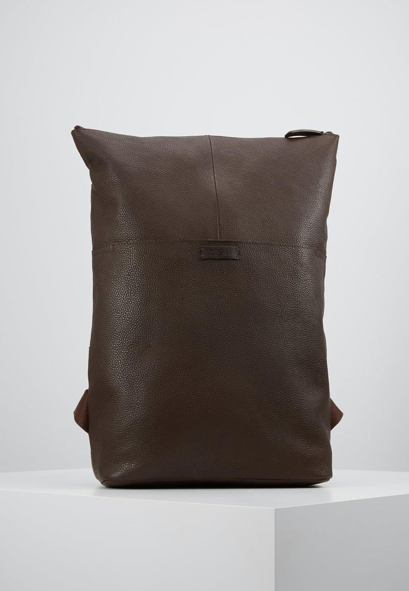 Zign - UNISEX LEATHER - Reppu - dark brown
