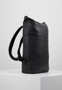 Zign - UNISEX LEATHER - Ryggsäck - black
