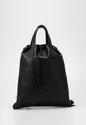UNISEX LEATHER - Ryggsekk - black