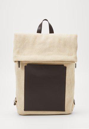 UNISEX LEATHER - Ryggsäck - beige