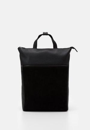 UNISEX LEATHER - Plecak - black