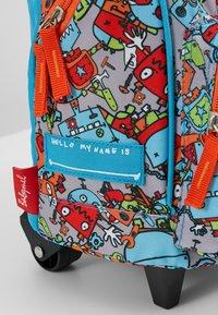 Zip and Zoe - MINI WHEELIE - Wheeled suitcase - robot blue - 2