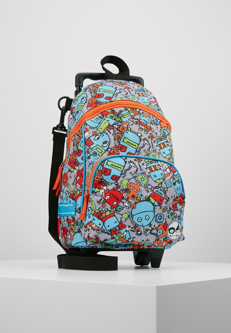 Zip and Zoe - MINI WHEELIE - Wheeled suitcase - robot blue