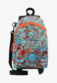 Zip and Zoe - MINI WHEELIE - Wheeled suitcase - robot blue - 1