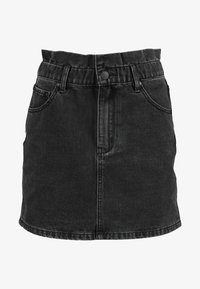 ZIGGY Denim - CINCH IT SKIRT - Falda vaquera - black moon - 4