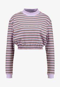 ZIGGY Denim - ZEE CROP GATHERED HEM - Top sdlouhým rukávem - purple/multi-coloured - 3