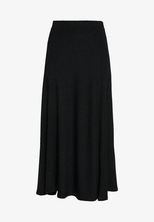 BIAS CUT SKIRT - Áčková sukně - black