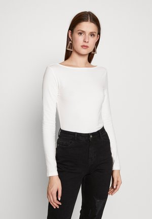 Long sleeved top - cloud dancer