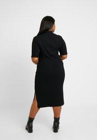 Zign Curvy - Robe fourreau - black - 3