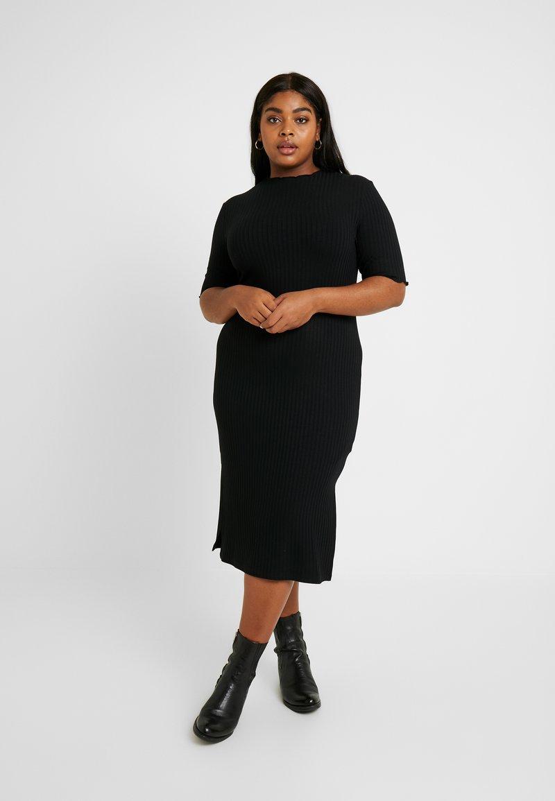 Zign Curvy - Robe fourreau - black