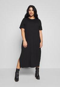 Zign Curvy - CURVY MIDI - Jersey dress - black - 0