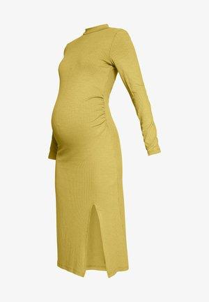 Žerzejové šaty - oliv