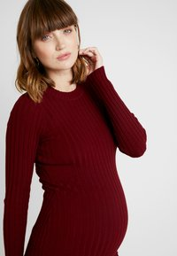 Zign Maternity - MATERNITY RIBBED JUMPER - Neule - bordeaux - 6