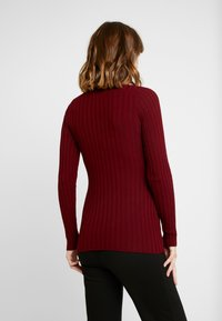 Zign Maternity - MATERNITY RIBBED JUMPER - Neule - bordeaux - 2