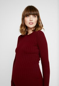 Zign Maternity - MATERNITY RIBBED JUMPER - Neule - bordeaux - 4