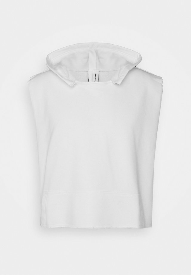 UNISEX SLEEVELESS HOODIE - Sweat à capuche - white