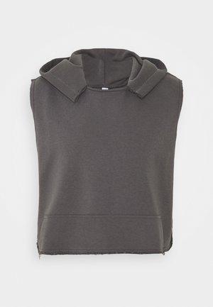 UNISEX SLEEVELESS HOODIE - Sweat à capuche - black