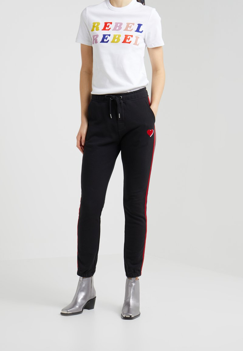 Zoe Karssen - TUXEDO SWEATPANTS - Jogginghose - moonless night