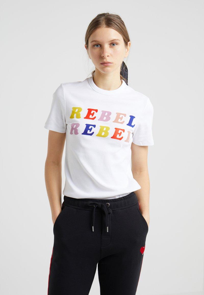 Zoe Karssen - SLIM FIT - Print T-shirt - optical white