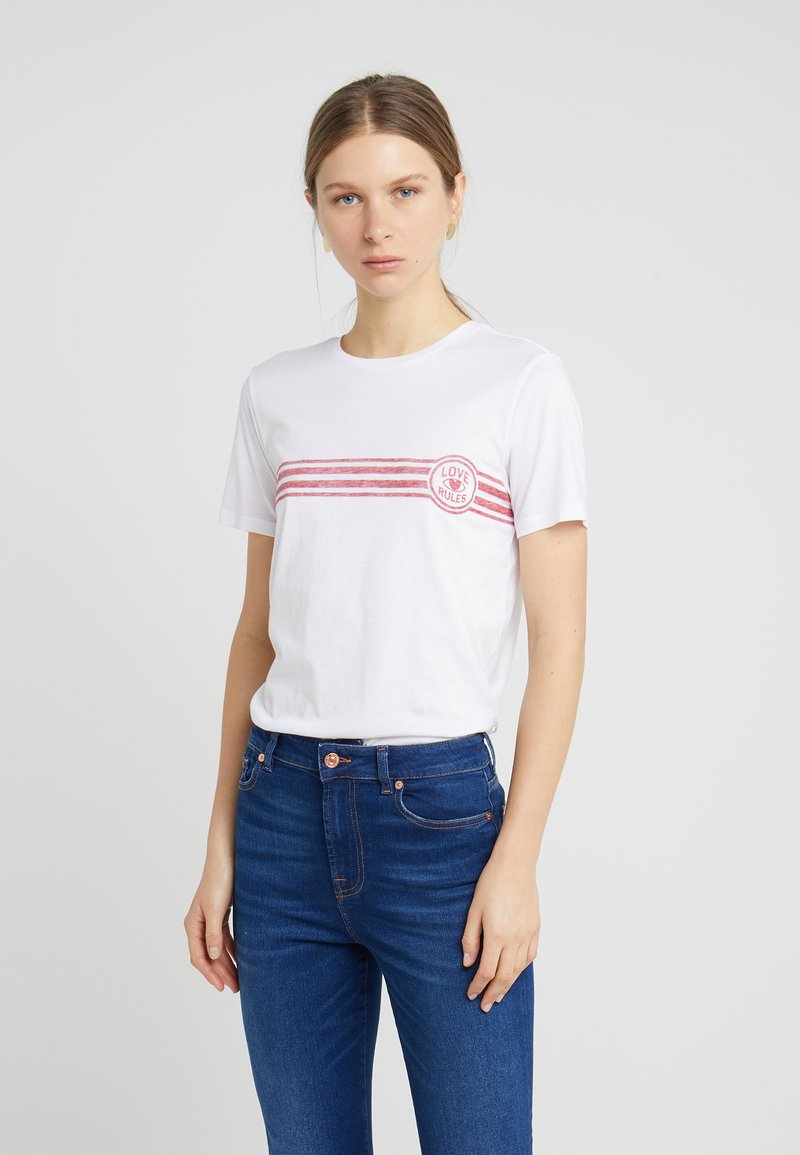 Zoe Karssen - LOOSE FIT  - T-Shirt print - optical white