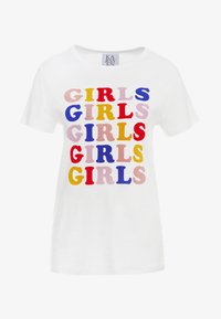 Zoe Karssen - LOOSE FIT TEE GIRLS - T-shirt z nadrukiem - optical white - 3