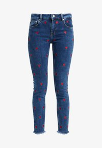 Zoe Karssen - PATTY MID RISE CROPPED - Jeansy Skinny Fit - acid blue - 3