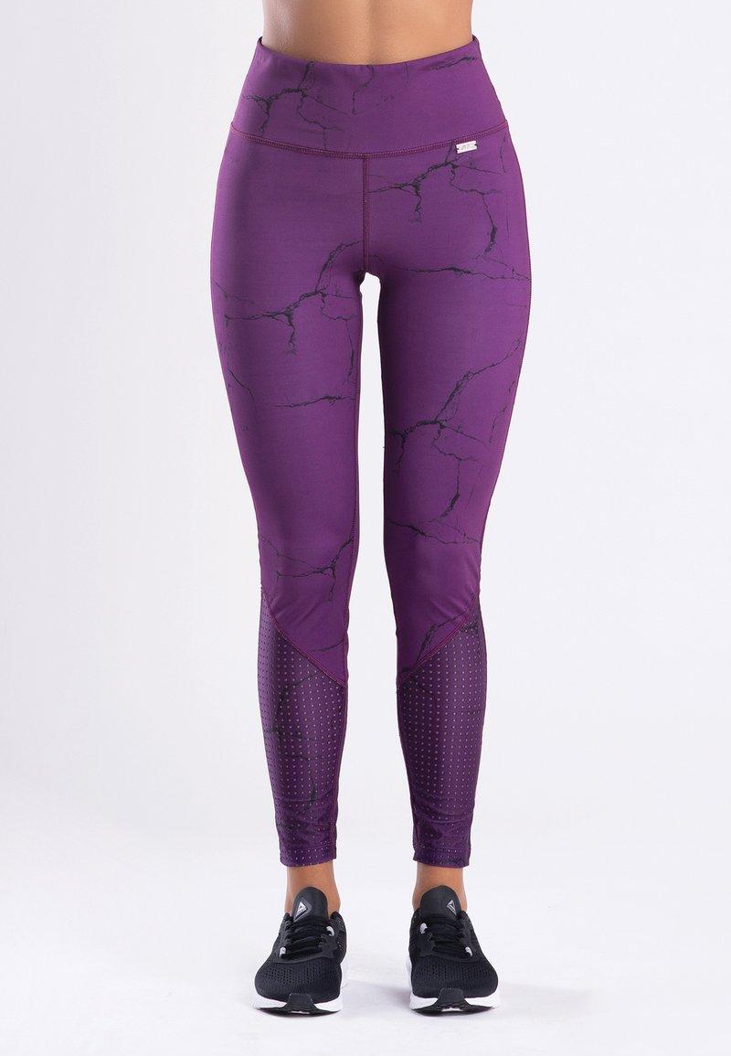 Zoe Leggings - MARBLE  - Legging - purple