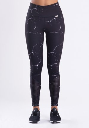 MARBLE - Leggings - black