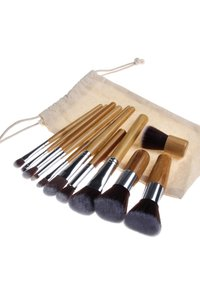 ZOË AYLA - 11 PIECE BAMBOO ECO MAKE-UP BRUSH SET - Make-upkwastje - bamboo - 1