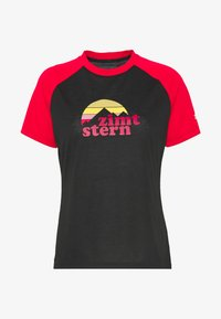 Zimtstern - SUNSETZ TEE - Print T-shirt - pirate black/jester red