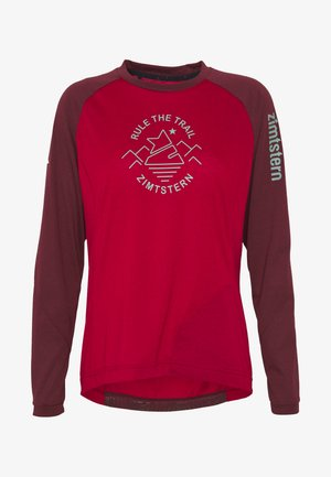 PUREFLOWZ  - Funktionsshirt - jester red/windsor wine/fog green