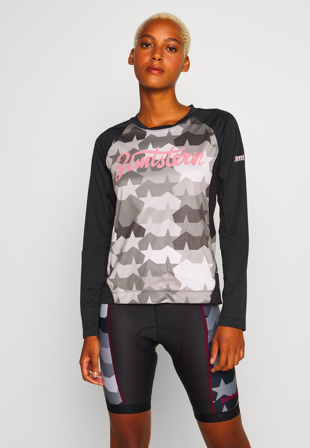 TECHZONEZ - Longsleeve - pirate black/gun metal/blush