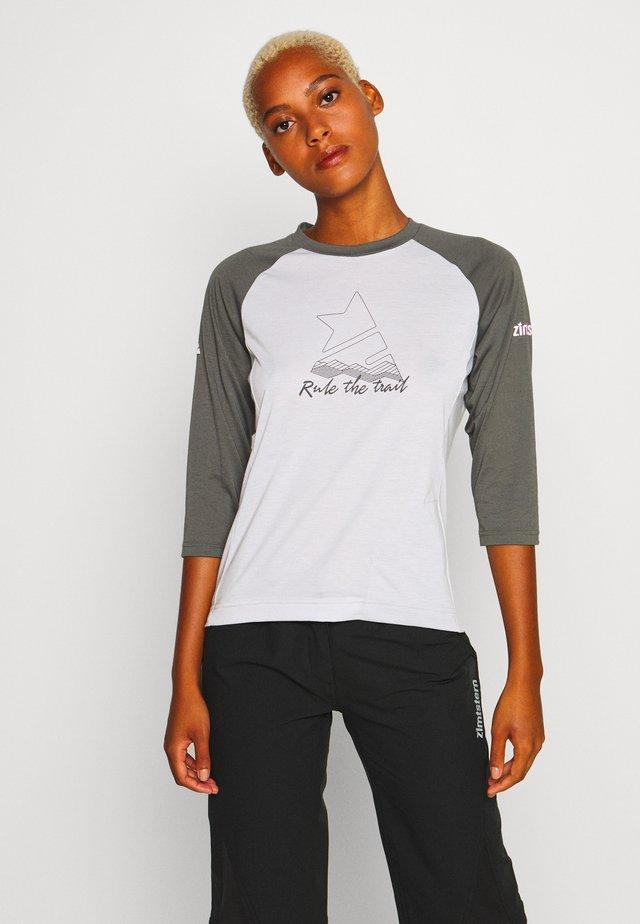 PUREFLOWZ 3/4 - Sports shirt - glacier grey/gun metal/blush