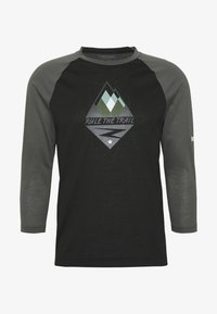 Zimtstern - PUREFLOWZ MEN - Funktionsshirt - pirate black/gun metal/fog green - 3