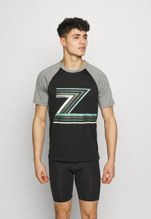 THE Z TEE MEN - T-shirts print - pirate black/gun metal melange