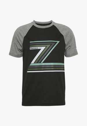 THE Z TEE MEN - T-Shirt print - pirate black/gun metal melange