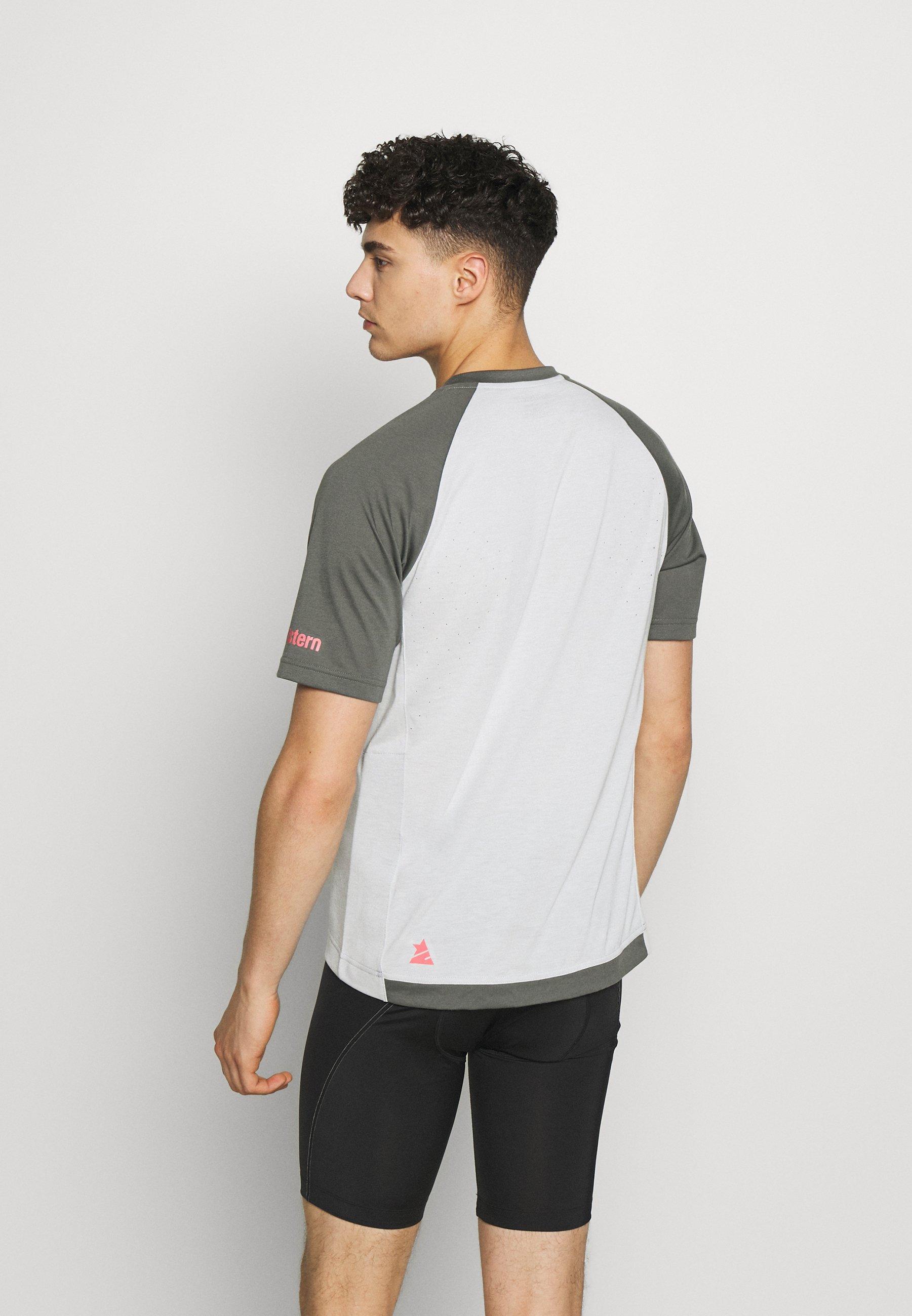 Zimtstern PUREFLOWZ MEN - T-shirt z nadrukiem - glacier grey/gun metal/cyber red