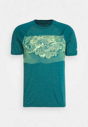 MAORITZ TEE MENS - T-shirt z nadrukiem - pacific/sharp green
