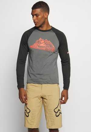 PUREFLOWZ MENS - Funktionsshirt - pirate black/gun metal/living coral