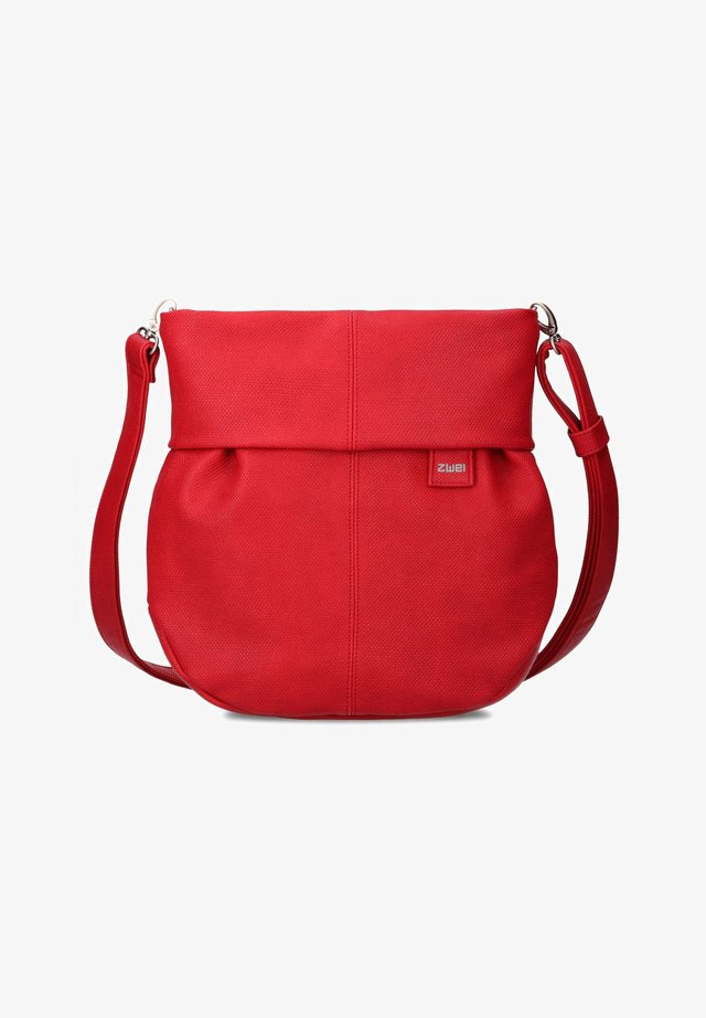 MADEMOISELLE - Across body bag - canvas-red
