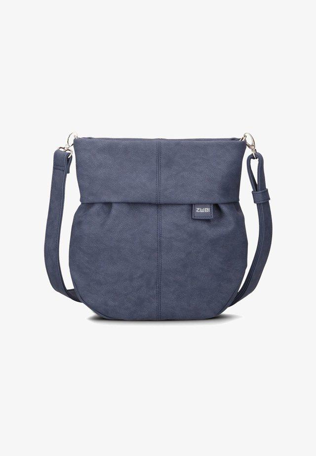 Across body bag - nubuk-blue