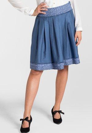 METTE - A-line skirt - dark blue