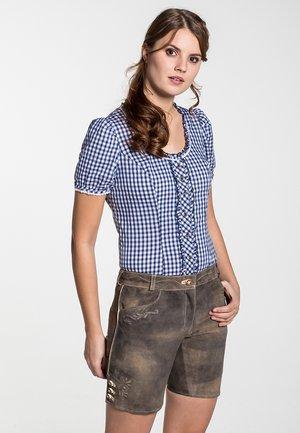 WALZ - Leather trousers - braun