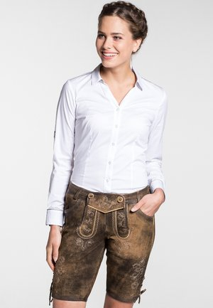 HERZBERG - Leather trousers - brown
