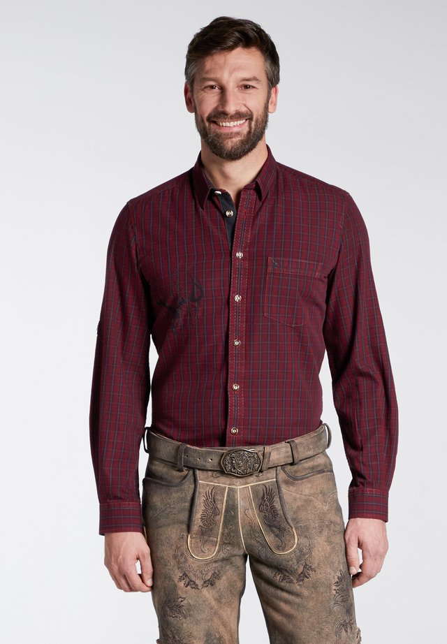 SLIM FIT - Shirt - red