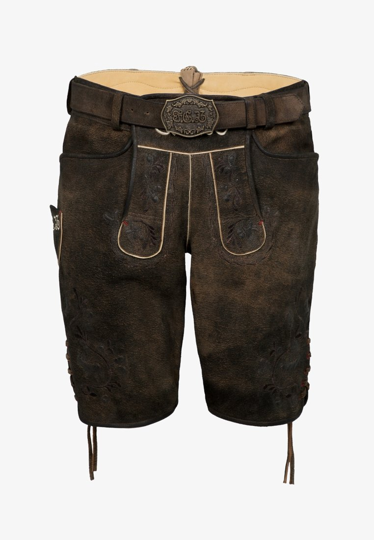 Spieth & Wensky - FC BAYERN FIMO - Leather trousers - braun